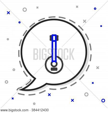 Line Banjo Icon Isolated On White Background. Musical Instrument. Colorful Outline Concept. Vector I