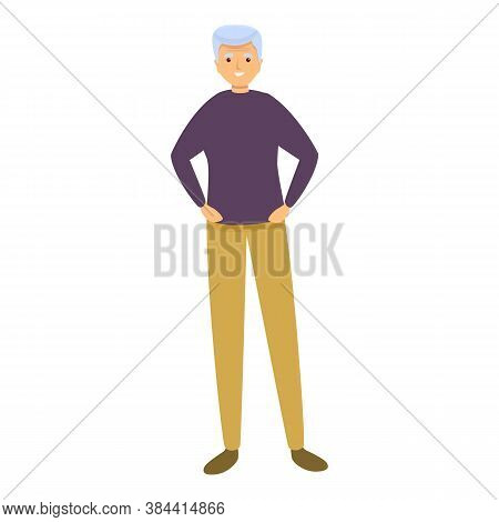 Man Nursing Home Icon. Cartoon Of Man Nursing Home Vector Icon For Web Design Isolated On White Back