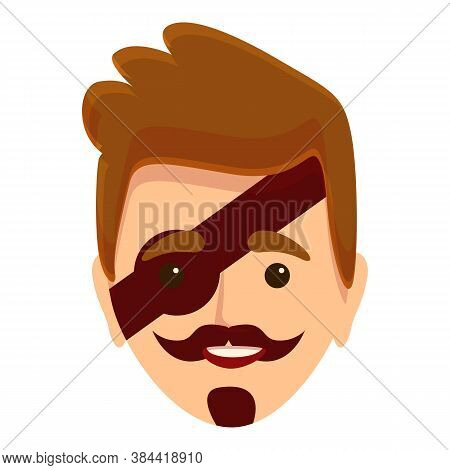 Face Painting Boy Pirate Icon. Cartoon Of Face Painting Boy Pirate Vector Icon For Web Design Isolat