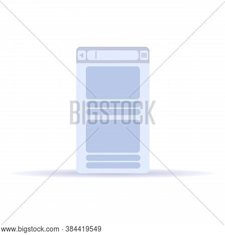 Window Browser Icon. Cartoon Of Window Browser Vector Icon For Web Design Isolated On White Backgrou