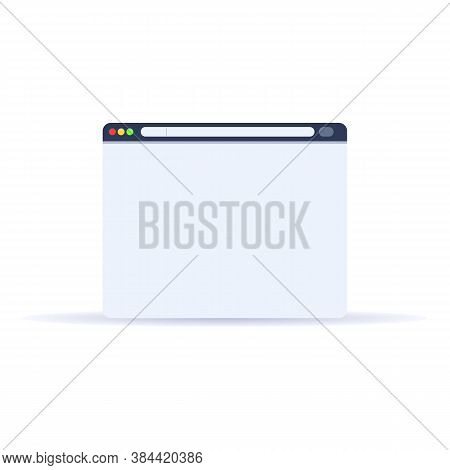 Browser Ui Icon. Cartoon Of Browser Ui Vector Icon For Web Design Isolated On White Background