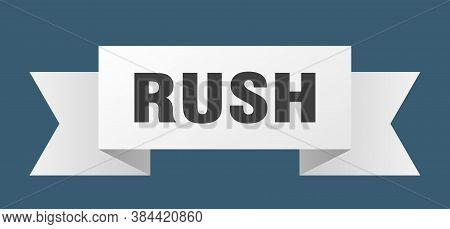 Rush Ribbon. Rush Paper Band Banner Sign