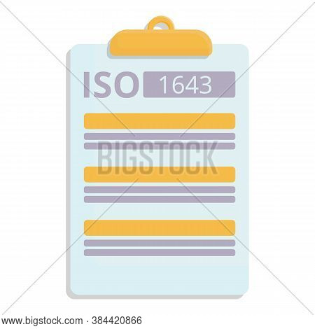 Standard Icon. Cartoon Of Standard Vector Icon For Web Design Isolated On White Background