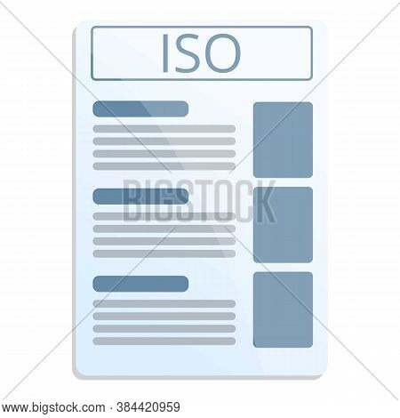 Iso Standard Icon. Cartoon Of Iso Standard Vector Icon For Web Design Isolated On White Background