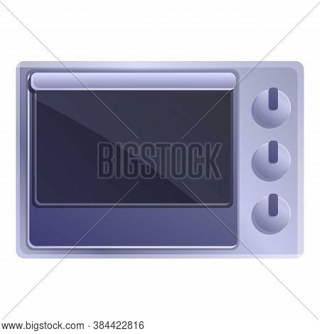 Home Convection Oven Icon. Cartoon Of Home Convection Oven Vector Icon For Web Design Isolated On Wh
