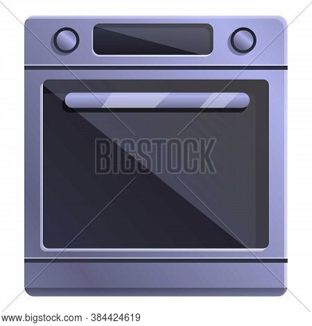Gas Convection Oven Icon. Cartoon Of Gas Convection Oven Vector Icon For Web Design Isolated On Whit
