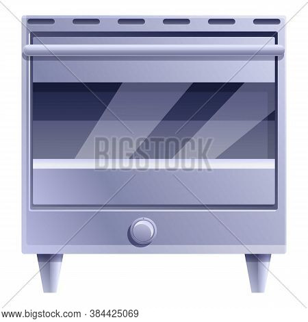 Glass Convection Oven Icon. Cartoon Of Glass Convection Oven Vector Icon For Web Design Isolated On