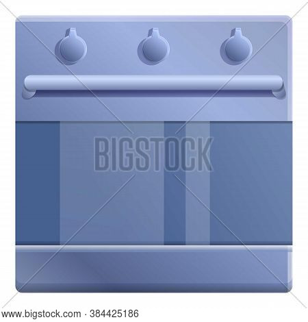 Hot Convection Oven Icon. Cartoon Of Hot Convection Oven Vector Icon For Web Design Isolated On Whit
