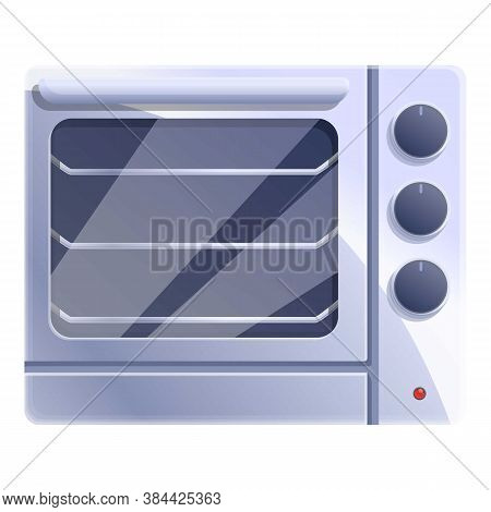 Steel Convection Oven Icon. Cartoon Of Steel Convection Oven Vector Icon For Web Design Isolated On