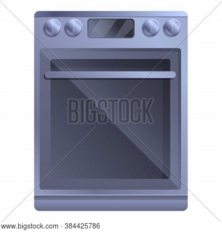 Digital Convection Oven Icon. Cartoon Of Digital Convection Oven Vector Icon For Web Design Isolated
