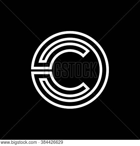 Initial Letter C Logo With Creative Circle Monogram Business Typography Vector Template. Creative Ab