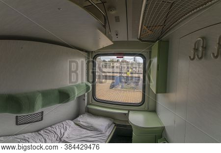 Single Compartment In Night Fast Train From Presov To Prague