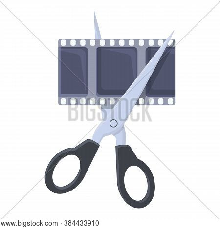 Manual Video Editing Icon. Cartoon Of Manual Video Editing Vector Icon For Web Design Isolated On Wh