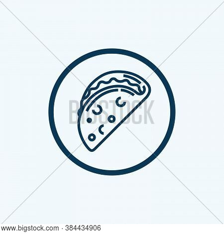 Taco Icon Isolated On White Background From Gastronomy Collection. Taco Icon Trendy And Modern Taco