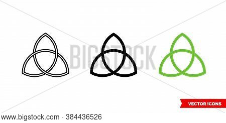 Cripple Knot Icon Of 3 Types Color, Black And White, Outline. Isolated Vector Sign Symbol.