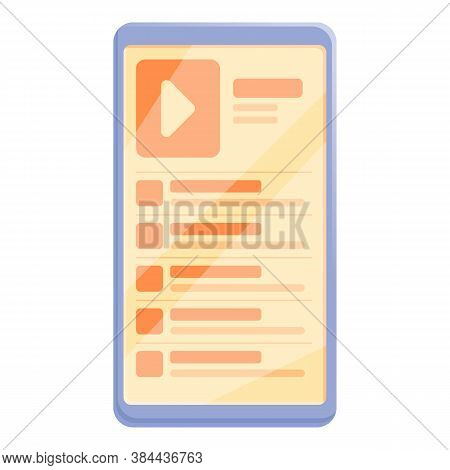 Playlist Audio Music Icon. Cartoon Of Playlist Audio Music Vector Icon For Web Design Isolated On Wh
