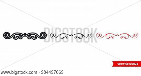 Fancy Symbols Icon Of 3 Types Color, Black And White, Outline. Isolated Vector Sign Symbol.