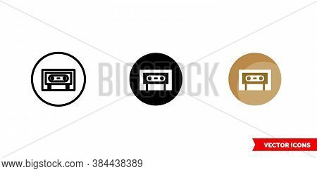 Indie Music Genre Icon Of 3 Types Color, Black And White, Outline. Isolated Vector Sign Symbol.