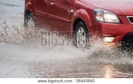 Spray From The Car