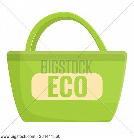 Ecologist Bag Icon. Cartoon Of Ecologist Bag Vector Icon For Web Design Isolated On White Background