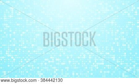 Dots Halftone White Blue And Green Color Pattern Gradient Texture With Technology Digital Background