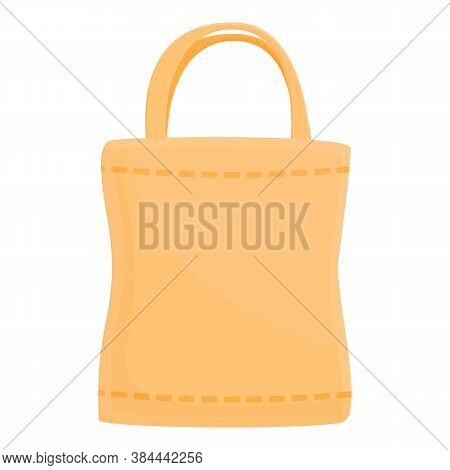 Grocery Eco Bag Icon. Cartoon Of Grocery Eco Bag Vector Icon For Web Design Isolated On White Backgr