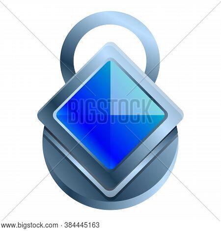 Silver Gemstone Amulet Icon. Cartoon Of Silver Gemstone Amulet Vector Icon For Web Design Isolated O