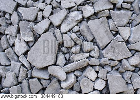 Ground Stone Gray Background Of A Large Number Of Small Stones