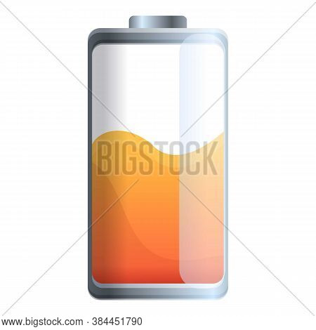 Alkaline Battery Icon. Cartoon Of Alkaline Battery Vector Icon For Web Design Isolated On White Back