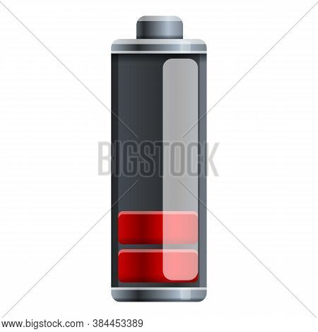 Low Capacity Battery Icon. Cartoon Of Low Capacity Battery Vector Icon For Web Design Isolated On Wh