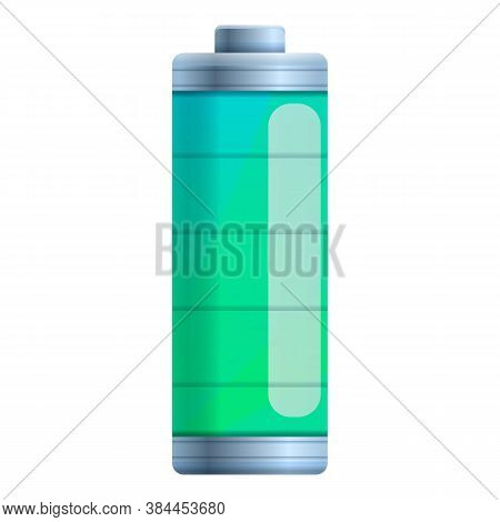 Full Level Battery Icon. Cartoon Of Full Level Battery Vector Icon For Web Design Isolated On White