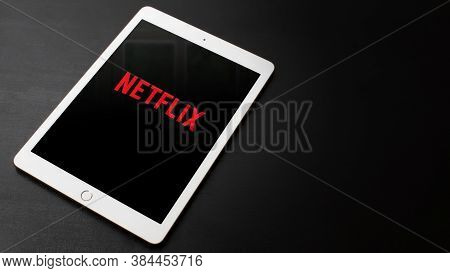 8.9. 2020, Prague, Czech Republic. Editorial Image Of Ipad With Netflix Icon