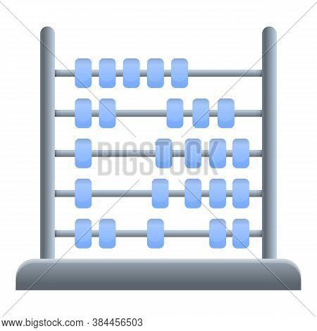 Traditional Abacus Icon. Cartoon Of Traditional Abacus Vector Icon For Web Design Isolated On White