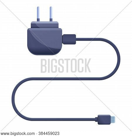 Cellphone Charger Icon. Cartoon Of Cellphone Charger Vector Icon For Web Design Isolated On White Ba