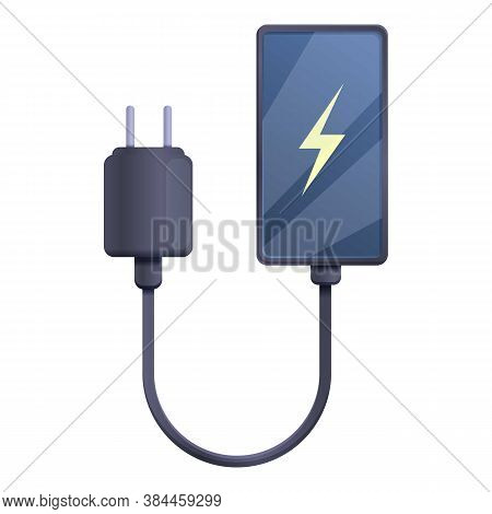 Quick Charge Smartphone Icon. Cartoon Of Quick Charge Smartphone Vector Icon For Web Design Isolated