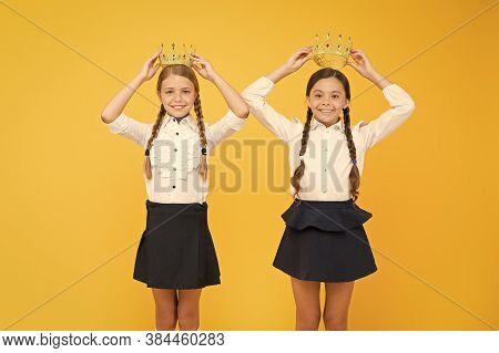 We Are Champions. Selfish Girls. Happy Girls In Uniform And Crown. Big Boss. Motivation To Study. Ki
