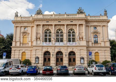 Neo-renaissance Style F. X. Salda Theatre With Rich Stucco Decoration And Sandstone Sculptures, Libe