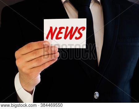 The Phrase Latest News On A Lined Index Card Pinned To A Cork Bulletin Board.