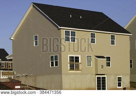 Installation On Facade Of The House Panel Vinyl Siding New