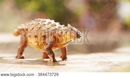 Ankylosaurus Was A Herbivorous Type Of Armored Dinosau, A Dinosaur From The Late Cretaceous. On Blur