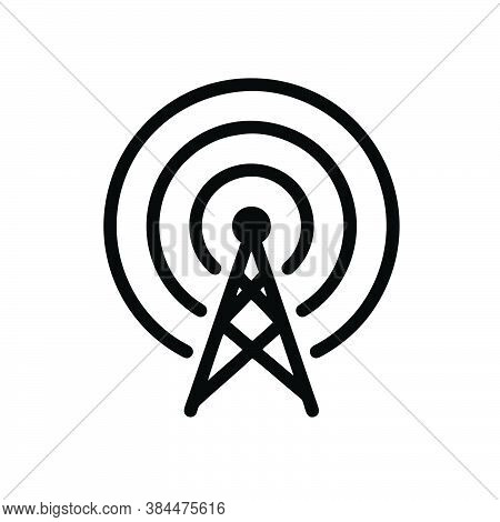Frequency Antenna Icon Isolated On White Background. Frequency Antenna Icon In Trendy Design Style F