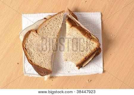 Plain Lunchmeat Sandwich