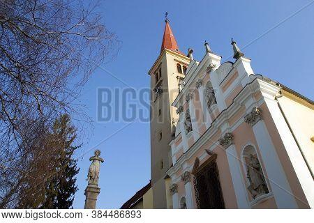 ZAGREB, CROATIA - JANUARY 12, 2013: Church of the Assumption of the Virgin Mary in Remete, Zagreb, Croatia