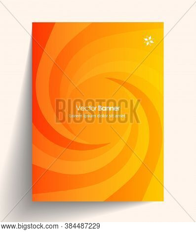 Abstract Business Vector Presentation Of Art Poster. Flyer Design Content Background. Design Layout