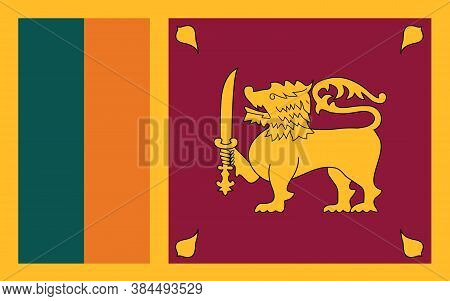 Sri Lanka Flag Vector Graphic. Rectangle Sri Lankan Flag Illustration. Sri Lanka Country Flag Is A S