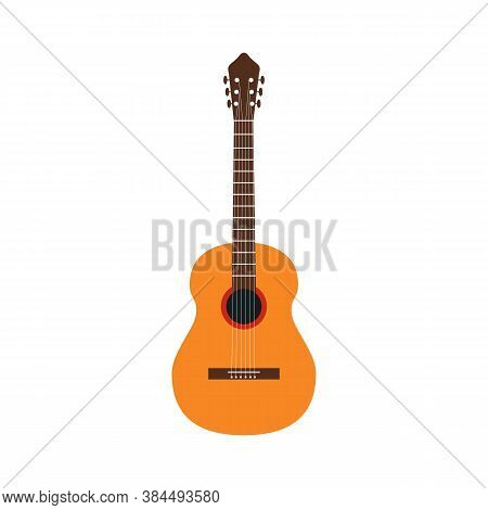 Guitar. Vector Illustration Of A Classic Guitar Isolated On White.