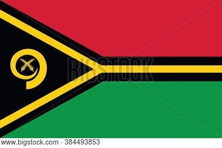Vanuatu Flag Vector Graphic. Rectangle Ni-vanuatu Flag Illustration. Vanuatu Country Flag Is A Symbo