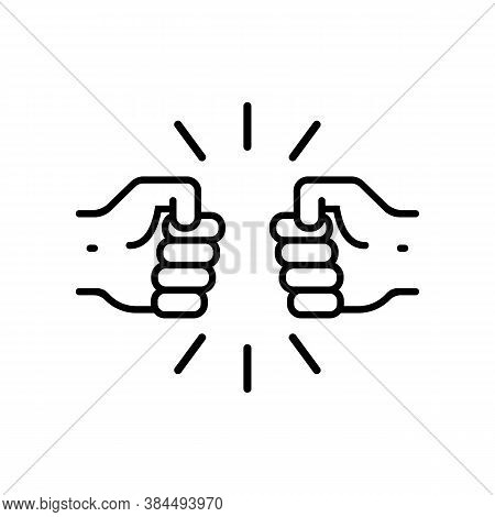 Fist Bump Icon. Relationship Concept. Vector On Isolated White Background. Eps 10