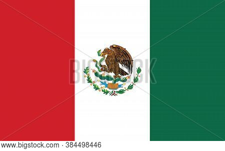 Mexico Flag Vector Graphic. Rectangle Mexican Flag Illustration. Mexico Country Flag Is A Symbol Of