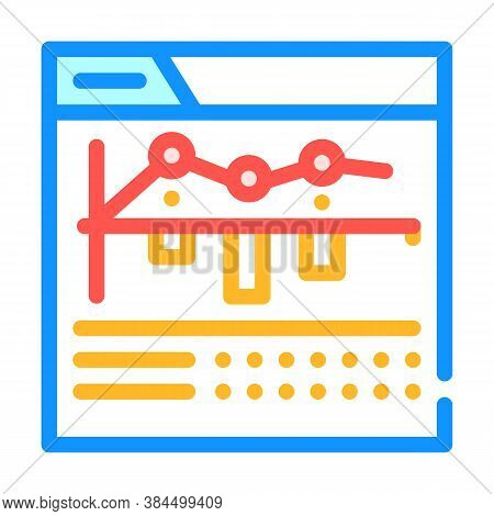 Internet Betting Monitoring Infographic Color Icon Vector Illustration